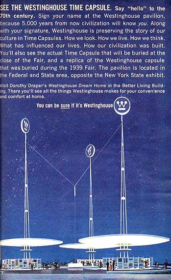 Westinghouse Time Capsules: Westinghouse 1964/65 World's Fair Time Capsule Pocket